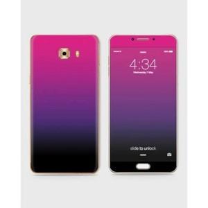 Samsung Galaxy C5 Pro Skin Wrap Mix Color Black&Purple-1wall14-50