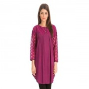 Purple Viscose Tunic
