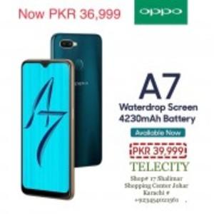 OPPO A7 4GB RAM & 64GB ROM (Glaze Blue)