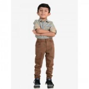 Brown Stretch Chino Kids Pant