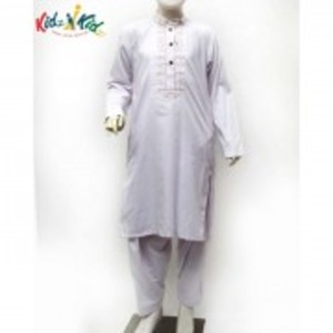 Purple Embroidered Washing Wear Kurta Shalwar 2 pc