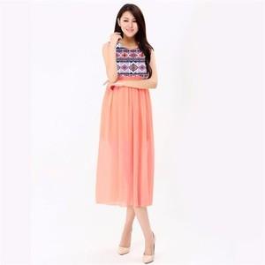 Peach Summer Maxi Dress -sm-peach