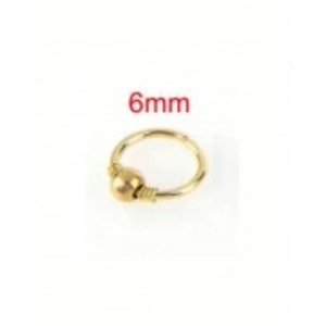 Gold Plated Hoop Nose Ring - Nose Earring