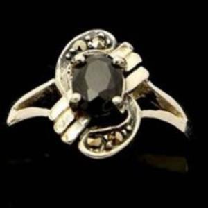 Sapphire Stone Silver Ring GB(5)4915