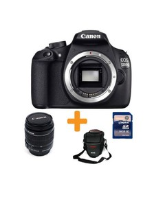 Canon EOS 1200D-18MP-1.5x-10x-DSLR-Black + 18-55mm lens + 16GB Card + Bag