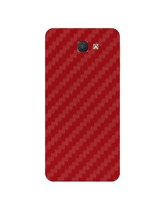 Decor Today Samsung On5 2016 Red Carbon Fiber Texture Mobile Skin-Back & Sides