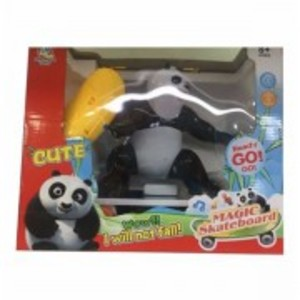 Magic Skateboard Panda Toy-Multicolour