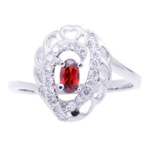 Silver Zirconia Metal Ring-UA786146PK