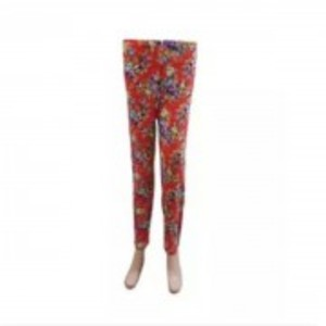 Flowers Printed Tights For Girls