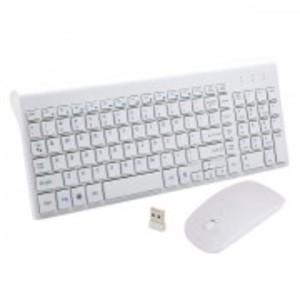 Wireless Keyboard and Mouse Combo,Full-sized 2.4GHz with 102 Keys