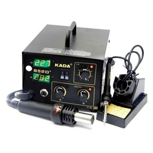 Black Digital Heat Air Gun with Soldering Iron