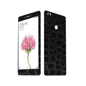 Xiaomi Mi Max 3M Black Crocodile Leather Texture Skin-DT5503