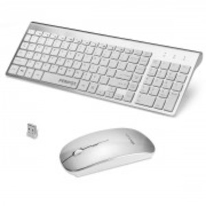FENIFOX Compact Wireless Keyboard And Mouse Combo for Laptop PC Computer