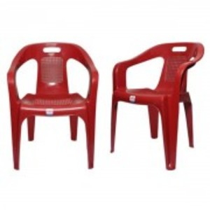 Plastic Res Relaxo Chair Set of 2-Red