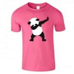 Pink Stylish Panda Printed T-Shirt-04125
