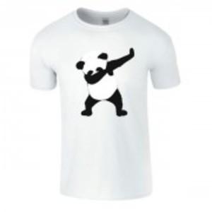 White Stylish Panda Printed T-Shirt-04117