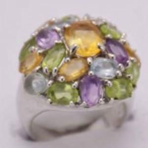 Golden Topaz Stone Ring -GB1148-Multicolor