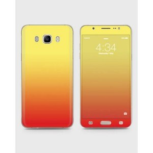 Samsung Galaxy J5 2015 (J510) Skin Wrap Mix Color Red & Yellow-1wall12-63