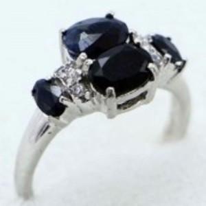 Sapphire Stone Ring -Multicolor-GB1891