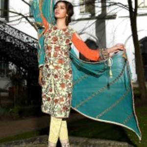 AJL-13A Luxury Lawn Collection 2018