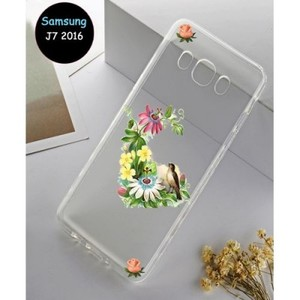 Samsung J7 2016 Cover Multi Floral-Transparent