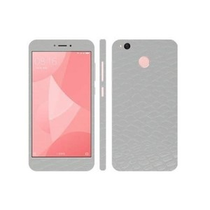 Xiaomi Redmi 4X White Snake Leather Texture Skin-DT7410