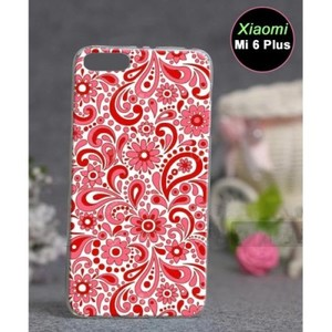 Xiaomi Mi 6 Plus Mobile Cover Floral Style-Red