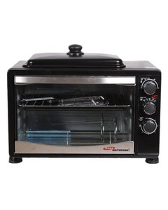 Gaba National 38 Litres Black Electric Oven with Hot Plate - GNO-1538