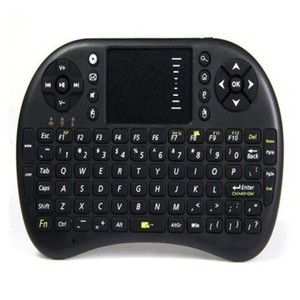 Mini Touch Pad Wireless Keyboard and Mouse Combo-RF 500-Black