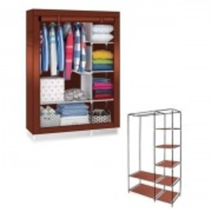 Brown Storage Cabinet and Wardrobe