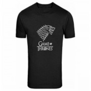 Black Game Of Thrones Printed T-Shirt