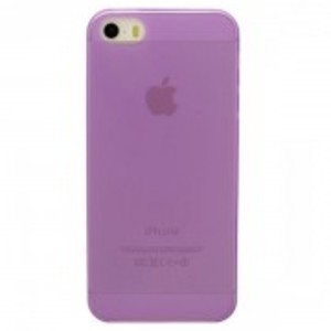 Ultra Thin Clear Matte Tpu Case For Apple Iphone 5, 5S-Purple