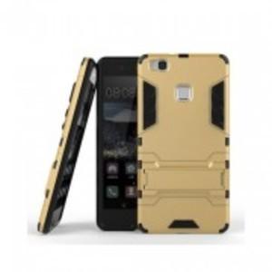 Golden Huawei P9 Lite Robot Armor Stand Case