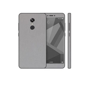 Xiaomi Redmi Note 4X Silver Brushed Metal texture Mobile Skin