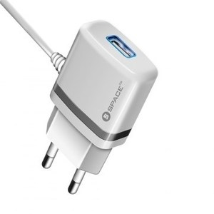 SPACE WC-105 WALL CHARGER\r\nMICRO USB CABLE