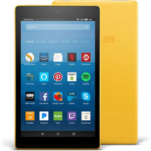 Amazon Fire HD 8 2017 16GB Canary Yellow with Alexa (7th Generation) - With Special Offers