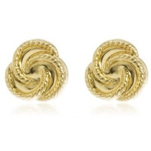 Rope Knot Stud Earring 14k Yellow Gold