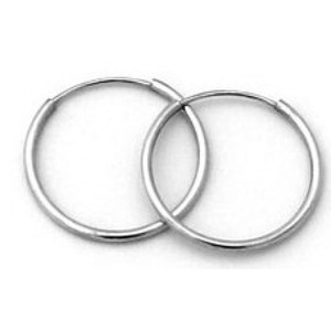 Endless Hoop Earring With White Gold