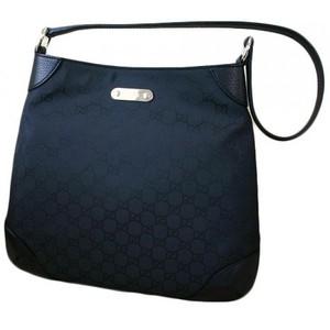 Gucci Nylon Black Hobo Handbag Shoulder Bag