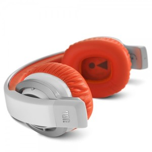 JBL J55i High-Performance On-Ear Headphones with JBL Drivers  Rotatable Ear-Cups and Microphone - Orange