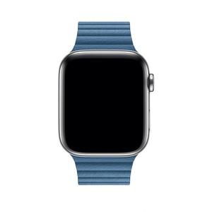 Apple 44mm Cape Cod Blue Leather Loop Band - Medium