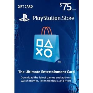 Sony PlayStation Store 75$ Gift Card - PS3/ PS4/ PS Vita PSN [Digital Code]