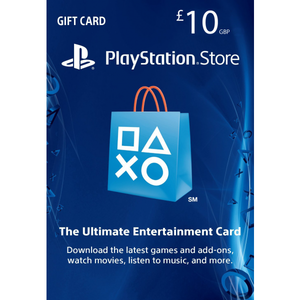 Sony PlayStation Store 10£ PSN Gift Card - PS3/ PS4/ PS Vita UK Region [Digital Code]