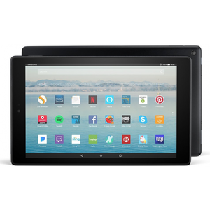 Amazon Fire HD 10 with Alexa Hands-Free 64GB (7th Generation 2017) With Special Offers - Black