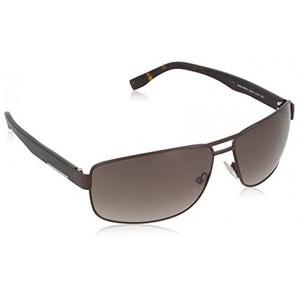 Hugo Boss 0668 L20 Brown 0668S Square Aviator Sunglasses Lens Category 3