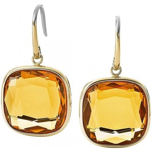 Michael Kors MKJ4228 Gold Tone Large Stone Finish Wire Earrings