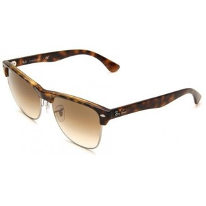 Ray-Ban 0RB4175 Square Sunglasses Demi Shiny Havana Frame/Brown Gradient Lens 57 mm
