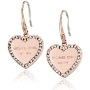 Michael Kors Core Rose Gold-Tone Drop Earrings