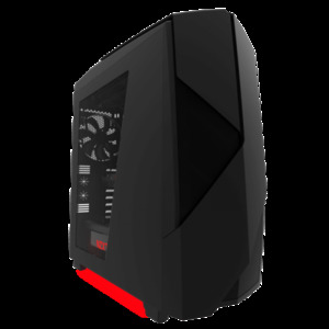 NZXT Noctis 450 Black + Red LED Mid Tower Casing