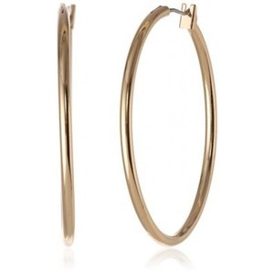 Anne Klein Classics Gold-Tone Thin Hoop Earring